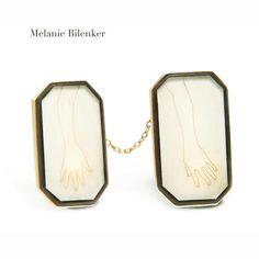 From 100 Brooches, Melanie Bilenker #artistjewelry #jewelry #brooch #hair #drawing #melaniebilenker #vdvarchive