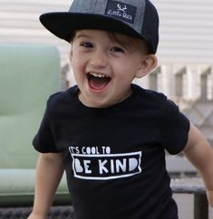 How cute is this little boy in our Graphic Tee? Toddler Fashion, Toddler Outfits, Baby Boy Outfits, Boy Fashion, Kids Outfits, Trendy Fashion, Boys Shirts, Graphic Tees, Baby Decor