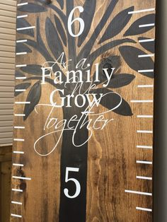 As A Family We Grow Together Wooden Growth Chart Add On Please Specify Dimensions Required