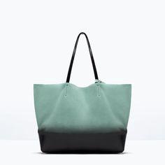 ZARA - WOMAN - OMBRE LEATHER SHOPPER BAG