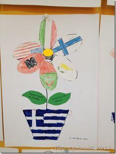 ελληνολουλουδα 28th October, School, Kids, Crafts, Flags, Autumn, Young Children, Boys, Manualidades