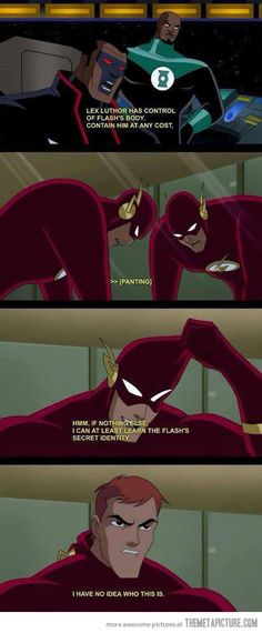 Flash's identity is revealed…probably my favorite moment in the justice league cartoon series