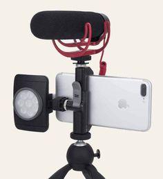 Best iphone tripod mount glif 6 no script Youtube Microphone, Phone Microphone, Legs Video, Small Camera, Video Camera, Camera Tips, Camera Gear, Mobile Video, Best Iphone