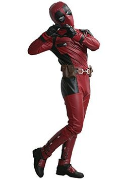 Introducing Dead Cosplay Pool Wade Costume Jumpsuit PU Outfit with Belt Adult Size XXL. Get Your Ladies Products Here and follow us for more updates!