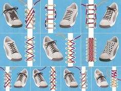 diferentes maneras atar zapatos muy ingeniosos