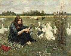 Valentine Cameron Prinsep  The goose girl, 1900