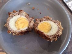 Gluten and dairy free baked scotch eggs Taste absolutely gorgeous and much better than the shop bought version. They are bursting with flavour. Scotch Eggs, Dairy Free Recipes, Absolutely Gorgeous, Free Food, Gluten, Meals, Baking, Breakfast, Shop