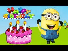 Happy Birthday Greeting from Minions. Minions Happy Birthday Song, Happy Birthday Song Youtube, Birthday Songs Video, Happy Birthday To You, Happy Birthday Grandson, Birthday Wishes For Kids, Singing Happy Birthday, Happy Birthday Quotes, Party