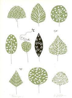 Trees Lino Print £30.00