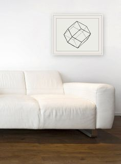 Geometric Lines I  Original Watercolor by GeometricInk on Etsy, $20.00