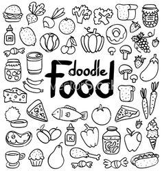 Food doodle vector