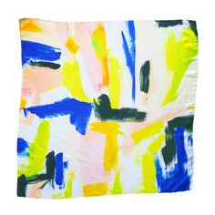 Colorful silk scarf, perfect for Spring! | The Blush Label