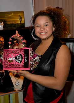 """Rachel Crow from """"The X Factor"""" with The Write Stuff Design."""