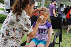 Butterfly Face Painting by Best Party Planner in Action!