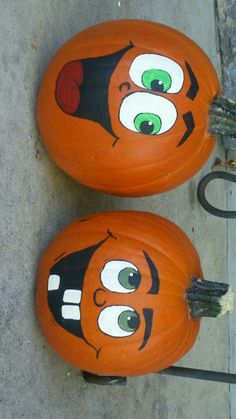 Painted pumpkins The post Painted pumpkins appeared first on Halloween Pumpkins. Halloween Wood Crafts, Halloween Painting, Fall Crafts, Halloween Fun, Halloween Decorations, Pumpkin Crafts, Cute Pumpkin, Pumpkin Ideas, Pumpkin Face Paint