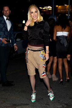 If that crotch continues to droop any further, it's going to be a maxi skirt. #refinery29 http://www.refinery29.com/2016/03/105927/gwen-stefani-style-pictures#slide-16