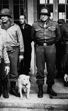 US 3rd Army Commander Lt. Gen. George S. Patton, Jr. and Willie