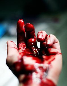 """He coughed wetly, pulling his blood soaked hand away from the wounds, he stared at the blood beginning to pool across his torso from the dozen or so bullets. """"Aw crap...not again."""" (B6: Return of Darkness) ~Wendy Hamlet"""
