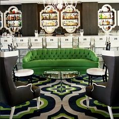 The green way. Viceroy Hotel, design by Kelly Wearstler.
