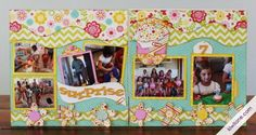 """Cedar Trails oh My! Below are two layouts incorporating in the new Cedar Trails 12"""" Fun Border Set. They are so much fun and can be used on any layout. Susan created a FUN Birthday Layout of her ..."""