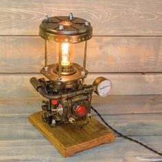 Most recent Absolutely Free Industrial Lamps table Ideas If you the task, we've got the retro commercial table lamp. Task lighting illuminates a place to enhance achie. Steampunk Design, Steampunk Lamp, Diesel Punk, Pipe Lighting, Task Lighting, Retro Lamp, Tea Table Design, Desk Lamp, Table Lamp