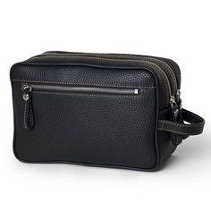 Pierotucci Leather Toiletry Bag with zip closure  http://www.pierotucci.com/