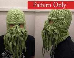 Cthulhu Ski Mask Crochet Pattern - Thumbnail 1