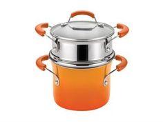 Rachael Ray Porcelain II 3-qt. Covered Steamer Set: Orange at Rachael Ray Store