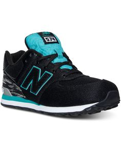 new balance 574 black trainers