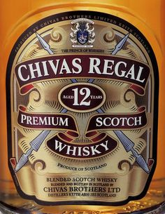Chivas Regal 12 Label, Whiskey  --great digital rendering of this classic label.