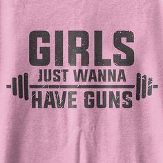 Girls just wanna have Guns weightlifting gym tank ladies workout tank top