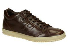Hogan men's brown Luxury leather sneakers shoes - Italian Boutique €200