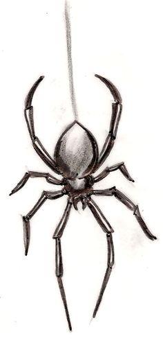 grey ink spider tattoo 360 766. Black Bedroom Furniture Sets. Home Design Ideas