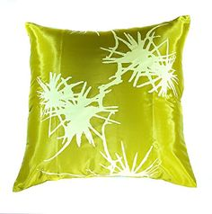 Try This!  Narphosit Thai Silk Decorative Throw Pillow Case Sofa Couch Cushion Cover Zippered 18x18 Inch