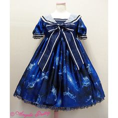Dreamy Planetarium OP ❤ liked on Polyvore featuring dresses, lolita and op