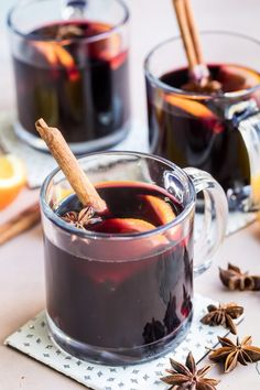 Cozy up to a cup of homemade Mulled Wine; every sip tastes just like Christmas. This traditional blend of wine, fruit, and fragrant spices makes cheeks rosy and warms you from the inside out. What Is Mulled Wine, Best Mulled Wine Recipe, Homemade Mulled Wine, Mulled White Wine, Mulled Wine Spices, Spiced Wine, Wine Recipes, Dessert Recipes, Desserts