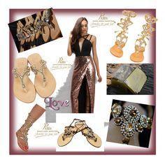 """Jewelry Shoes Pasha"" by alma-ja ❤ liked on Polyvore featuring Rare London, Komodo, Madura and South Beach"