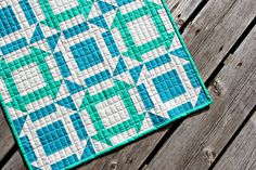 Awesome monkey wrench quilt using inversion blocks!  Amazing!
