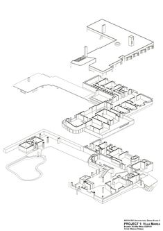villa mairea 1:100 - Αναζήτηση Google Alva Aalto, Maquette Architecture, Composition Art, Ludwig Mies Van Der Rohe, Project 3, Type Setting, Architecture Details, My Drawings, Facade
