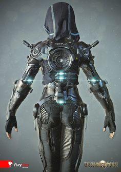 Exoskeleton suit by Mihail Vasilev | Robotic/Cyborg | 3D | CGSociety