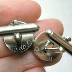 Inscribed cuff links. Cute idea :)