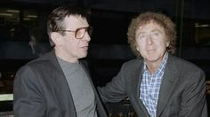 "Actor Leonard Nimoy, left, chats with Gene Wilder at the screening of the movie ""Never Forget"" Tuesday, March 20, 1991, New York."