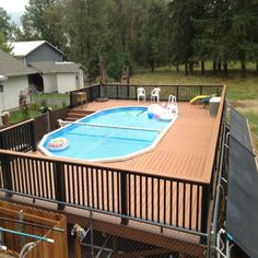 charming above ground pool decks designs. Pallet pool deck  Who has not dreamed of ever having a beautiful pallet However the costs these wooden platforms often distract us from this Above Ground Pool Deck Ideas Free Plans