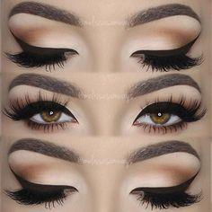 Matte Beige Smokey Eye & Brown Cat Eye Makeup Tutorial