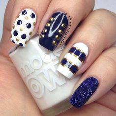 Nautical nails by the polish list using Models Own
