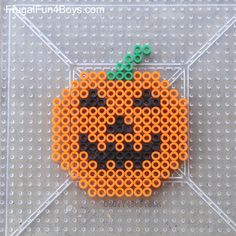 Halloween Perler Bead Patterns Frugal Fun For Boys And Girls Easy Perler Bead Patterns, Melty Bead Patterns, Perler Bead Templates, Bead Crochet Patterns, Beading Patterns, Knitting Patterns, Art Patterns, Mosaic Patterns, Bracelet Patterns