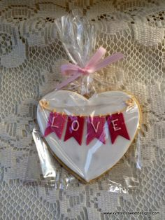 """Love Banner"" Valentines Day Cookies 