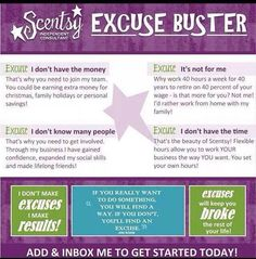 Who's going to be an excuse buster with me? I've loved every day of my Scentsy journey and want to share it with you!