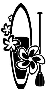 Stand Up Paddle Board SUP Decal Sticker (Black) by NALU
