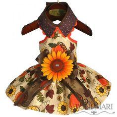 Tonimari Dress Autumn Sunflower Cream Brown